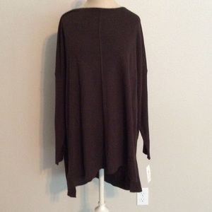 Brown long sleeve top style&co NWT